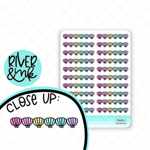 Seashell Divider | Hand Drawn Planner Stickers