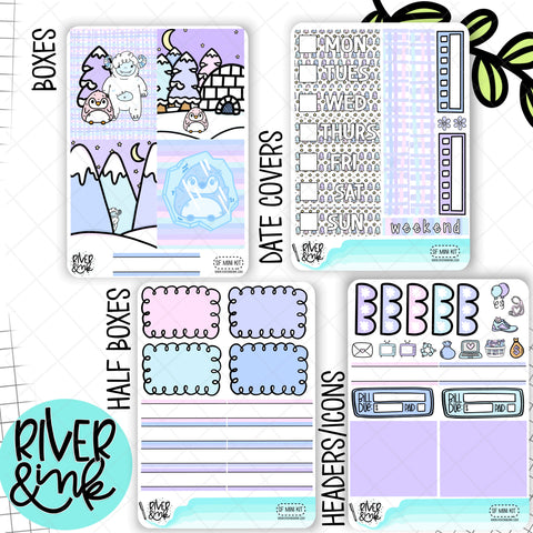 Snow Friends | Mini Weekly Planner Stickers Kit
