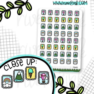 Stamps Post Office Planner Stickers