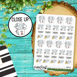 Takeout Ygritte Yeti Planner Stickers