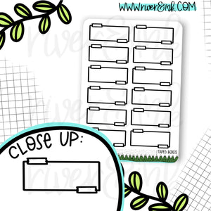 Taped Quarter Box Planner Stickers