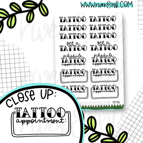 Tattoo Appointment Planner Stickers