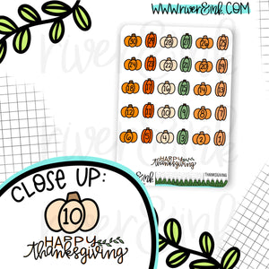 Thanksgiving Countdown Planner Stickers