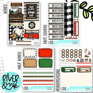 Tree Farm Christmas Mini Weekly Planner Stickers Kit