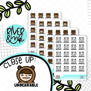 UnBEARable Planner Characters | Hand Drawn Planner Stickers