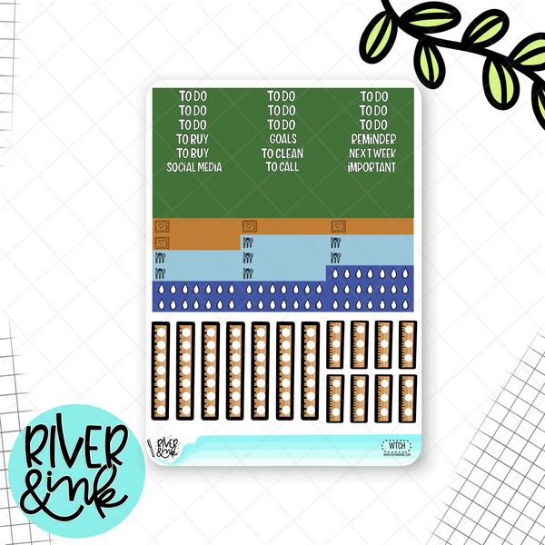 Welcome To Class Weekly Vertical Planner Stickers Kit | Planner Stickers