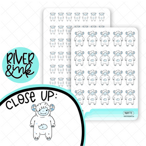 Ygritte the Yeti Planner Stickers