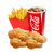 5 Piece Combo - 1 Small drink + 1 Small Fries (Available only in Upolu HYPER,MALL,UTUALII and TANUMALALA)