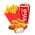 KIDS FUN MEAL - 6 PIECE NUGGETS + SMALL FRIES + SMALL DRINKS (Available only in Upolu HYPER,MALL,UTUALII and TANUMALALA)