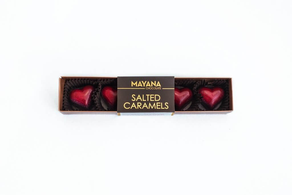 Mayana Chocolate - Valentine Hearts - Salted Caramels