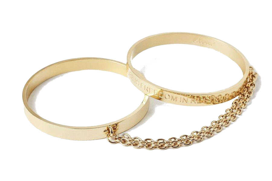 24k Gold Bangle Handcuffs