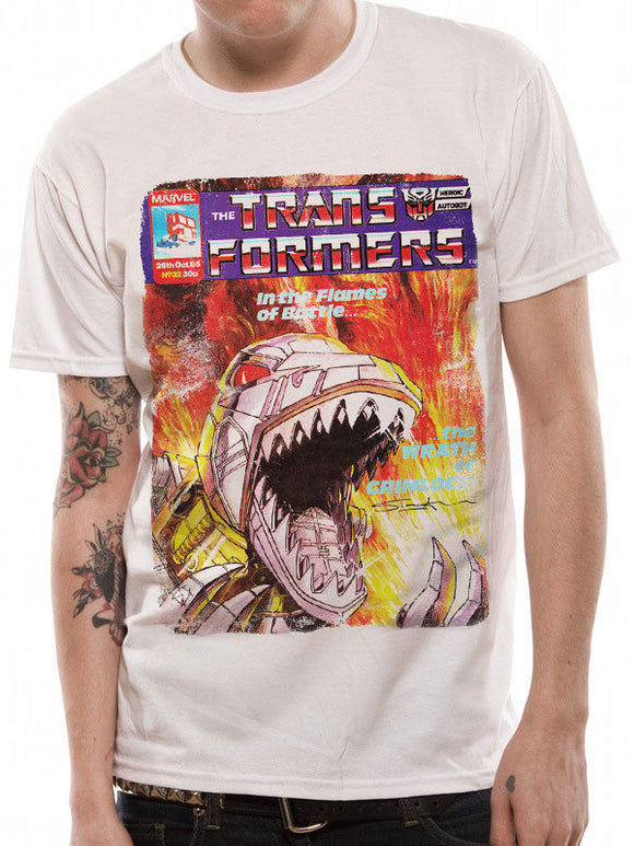 Transformers Grimlock Comic Cover T-Shirt Geek 80s