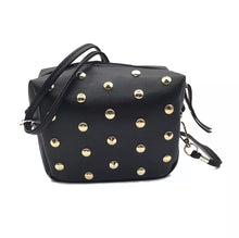 Black Studded Side Bag