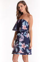 Strapless Floral Tier Dress