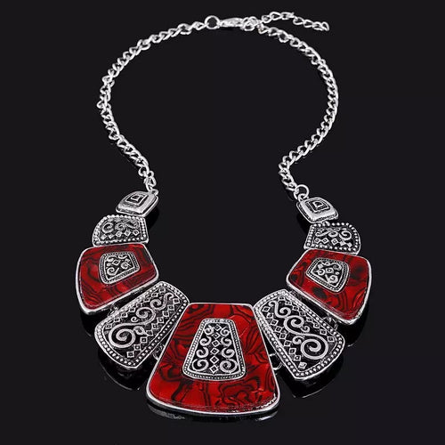 Red Vintage Statement Necklace