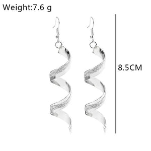 Silver Spiral Earrings