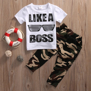 Like A Boss Boys Camo Outfit