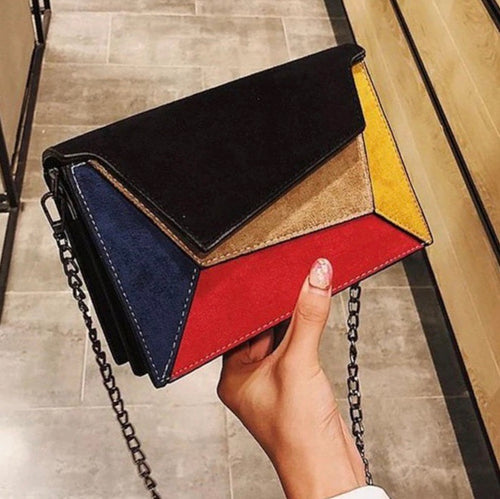 Retro Matte Patchwork Bag
