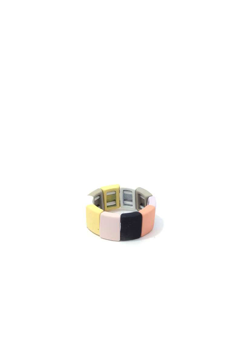 Square Shape Block Stretch Ring
