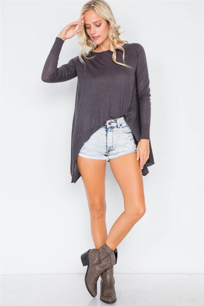 Raw Distressed Denim Short Shorts