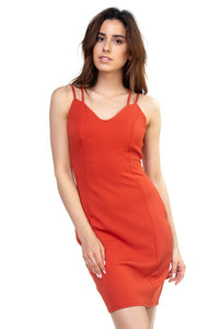 Crisscross Spaghetti Dress