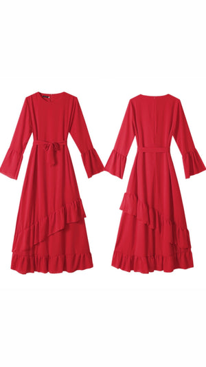 Open image in slideshow, Red Maha Dress