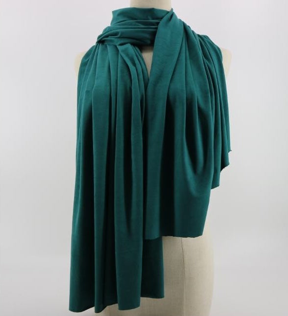 Emerald Green Suede Hijab