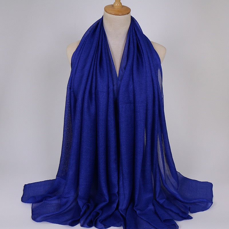 Royal Blue Shimmer Hijab