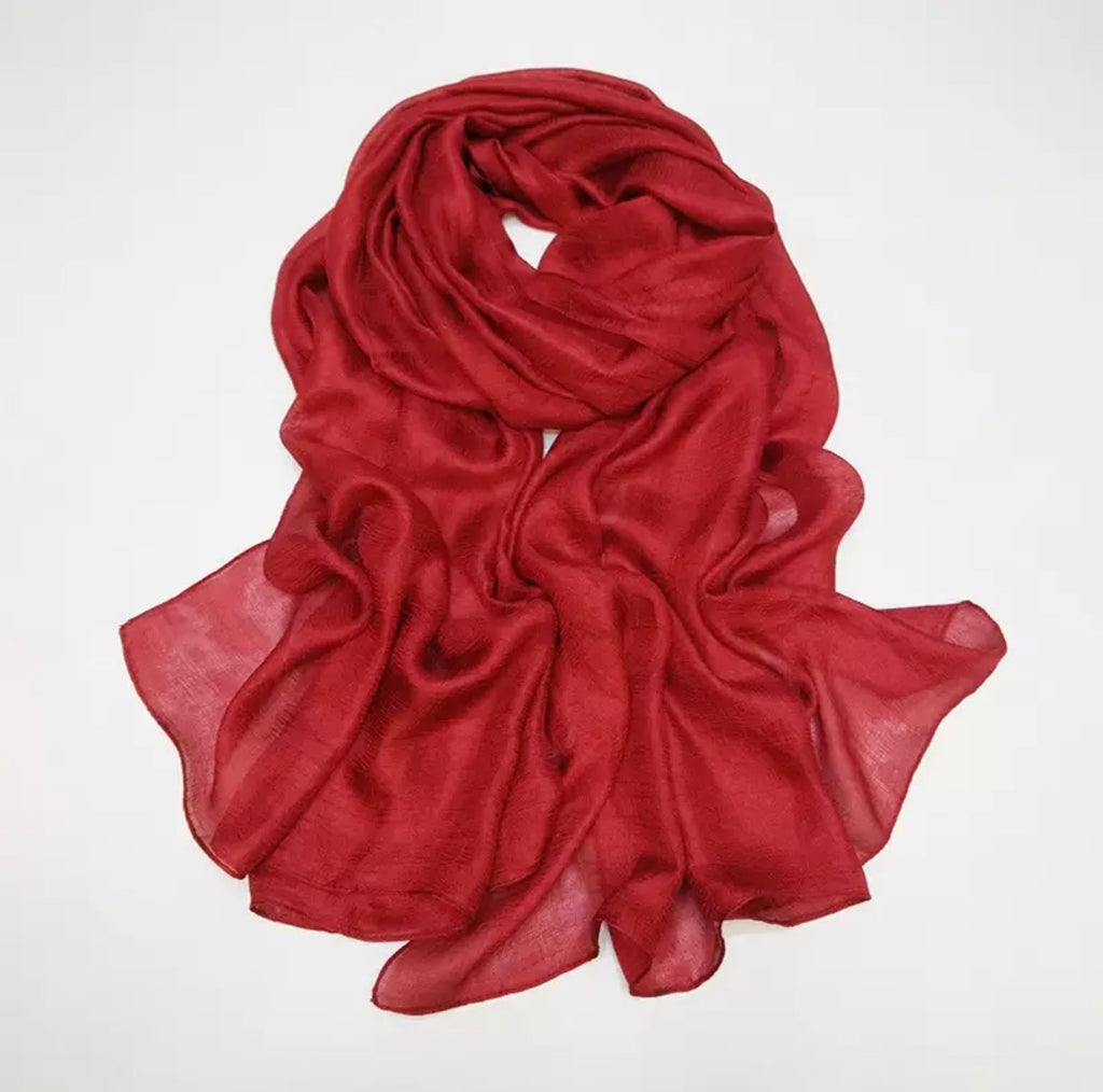 Red Shimmer Hijab