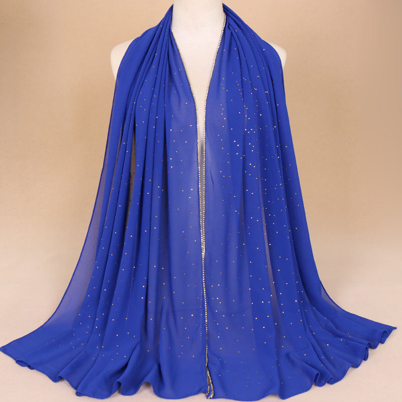 Royal Blue Rhinestone Hijab