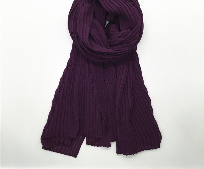 Dark Purple Crinkle Hijab