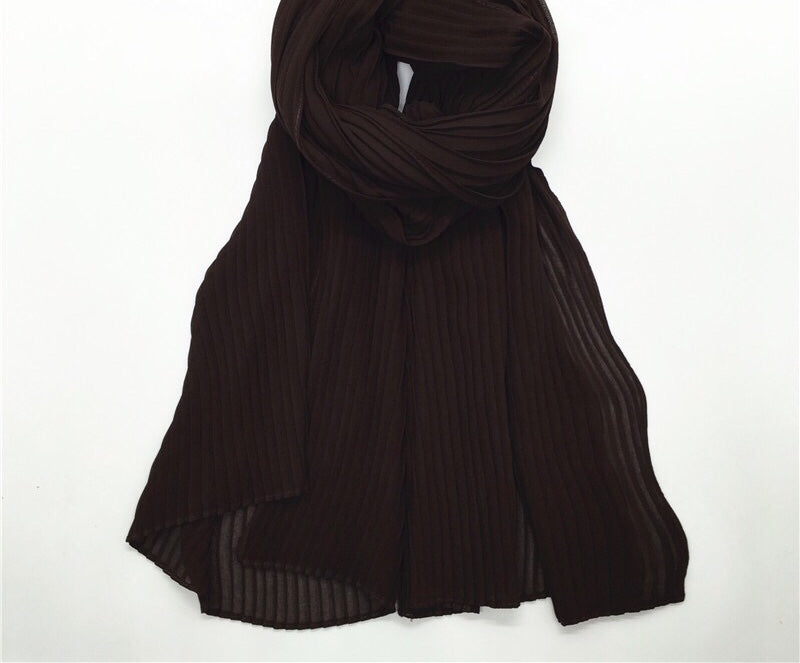 Dark Brown Crinkle Hijab