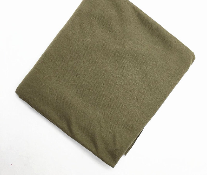 Olive Green Solid Jersey Hijab