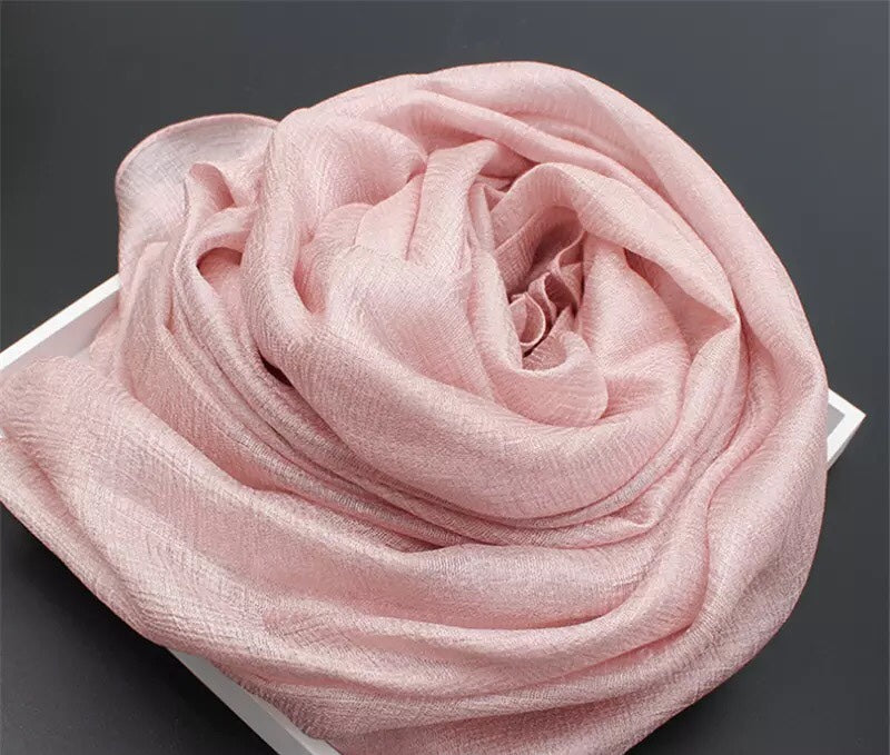 Light Pink Shimmer Hijab