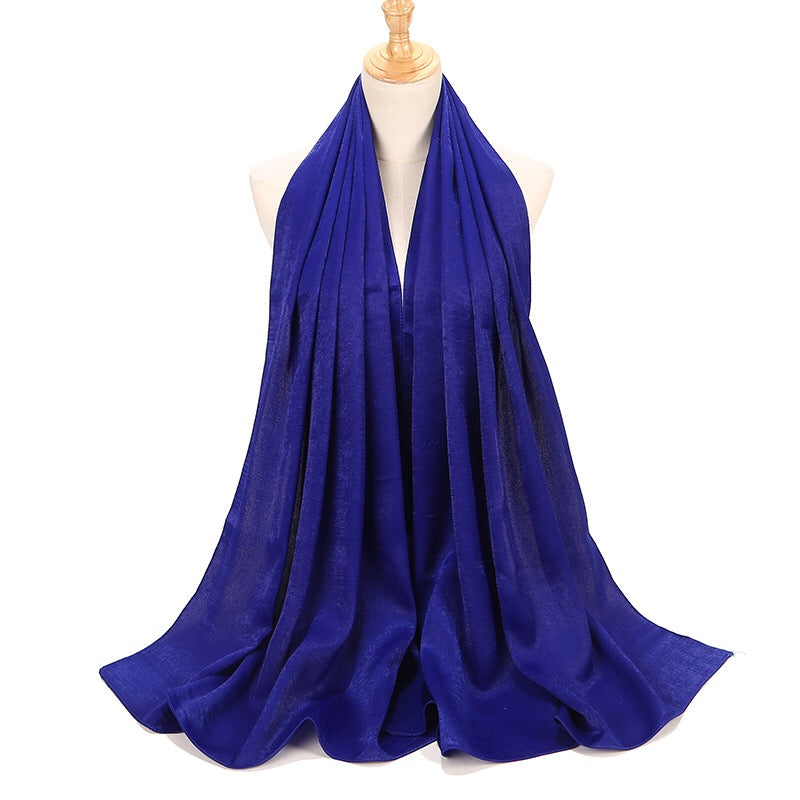Royal Blue Sateen Hijab