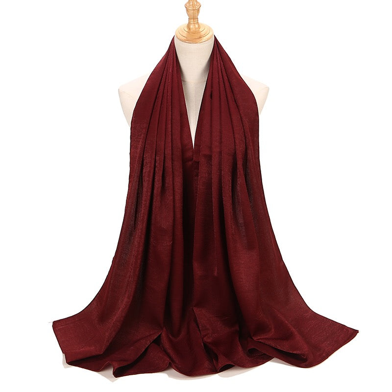 Burgundy Sateen Hijab