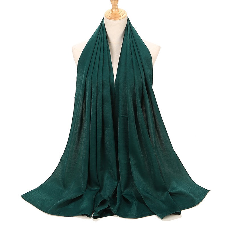 Emerald Green Sateen Hijab