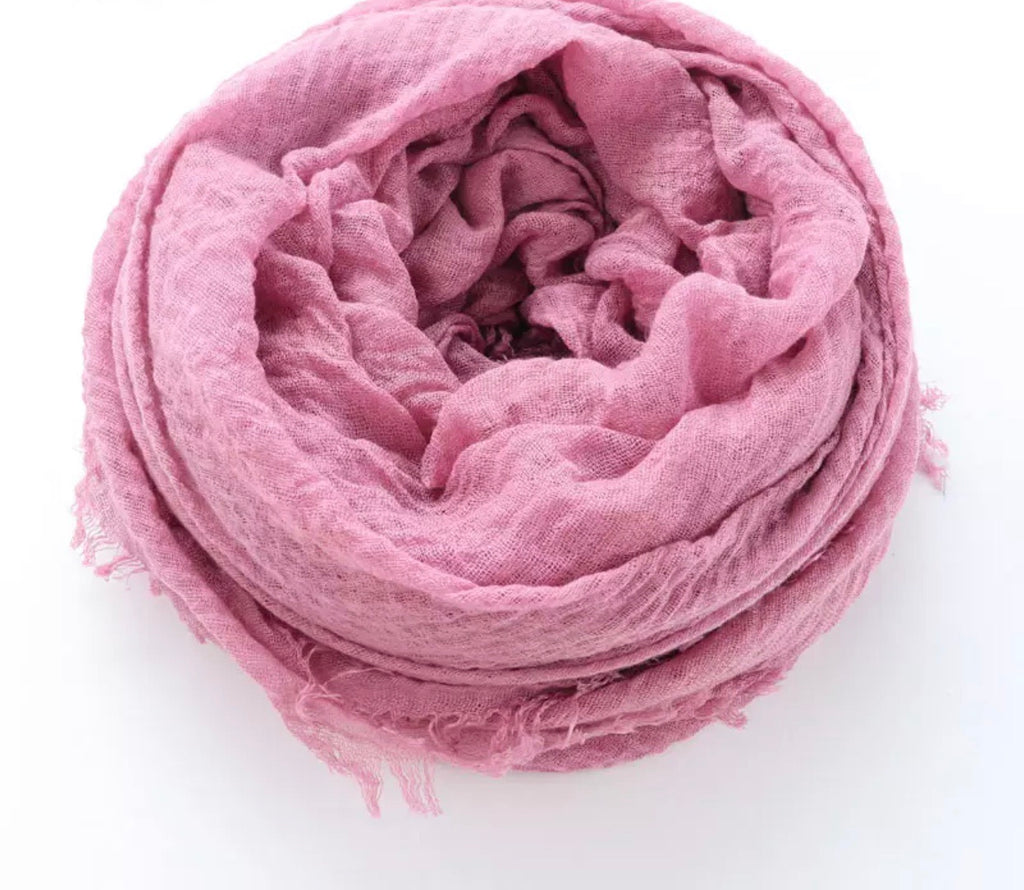 Light Pink Cotton Crinkle Hijab