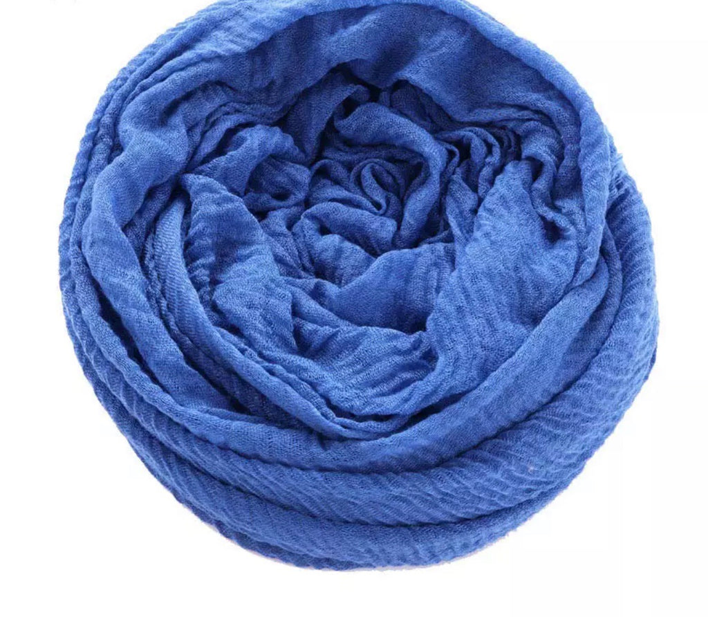 Sky Blue Cotton Crinkle Hijab