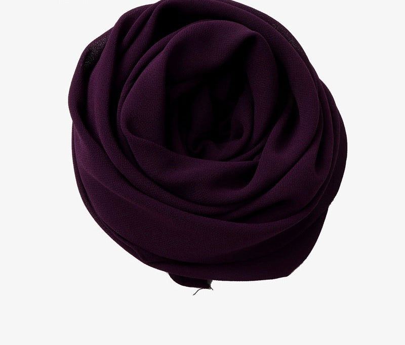 Dark Purple Chiffon Hijab