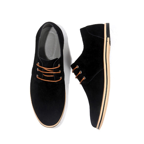 Drop Shipping Men Casual Suede Driving Shoe Men Daily Office Shoes Comfortable Footwear Big Size
