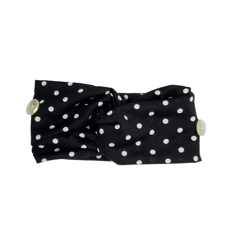 Black Polka Dot Button Headband of Hope-[option4]-Trendy-Womens-Clothing-Store-Shop-The Beauty Alley Boutique Inc