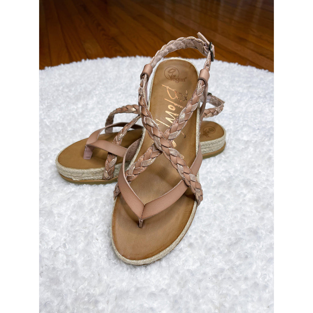 Blowfish Foxtail Rope Sandal (Rosegold)-[option4]-Trendy-Womens-Clothing-Store-Shop-The Beauty Alley Boutique Inc