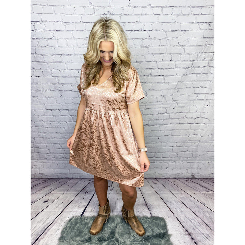 Stolen Dreams Rose Gold Dress-[option4]-Trendy-Womens-Clothing-Store-Shop-The Beauty Alley Boutique Inc