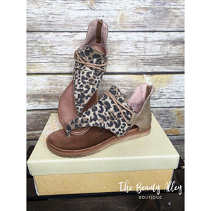 Very G Sparta Sandals - Tan Leopard