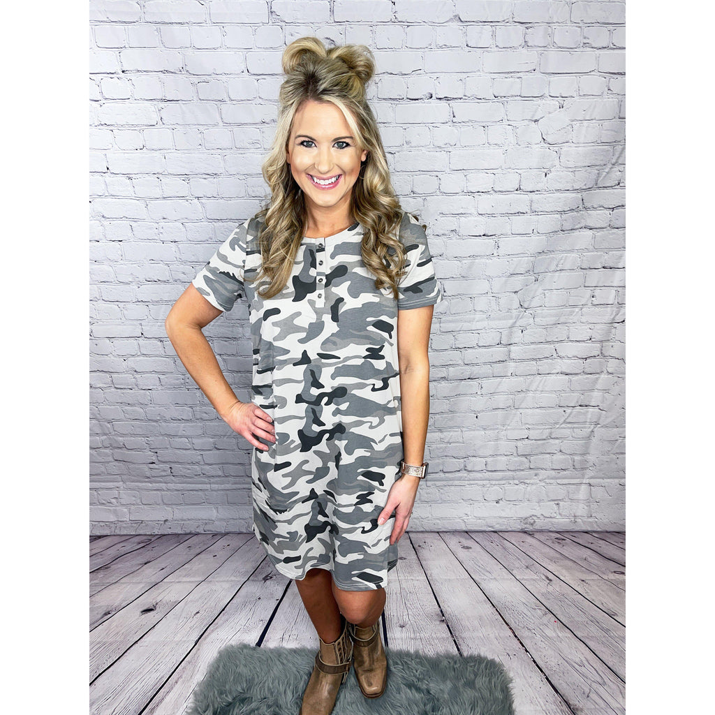 Camo Button Dress-[option4]-Trendy-Womens-Clothing-Store-Shop-The Beauty Alley Boutique Inc