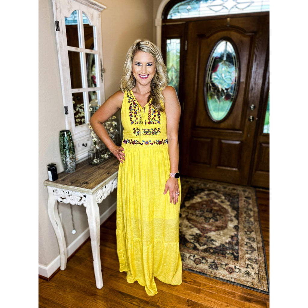 Sunray Embroidered Maxi Dress