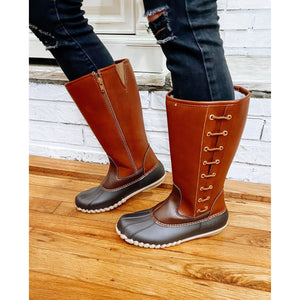 Brown Tall Duck Boots