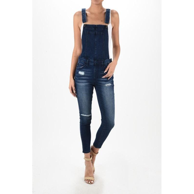 Zoey Distressed Overalls