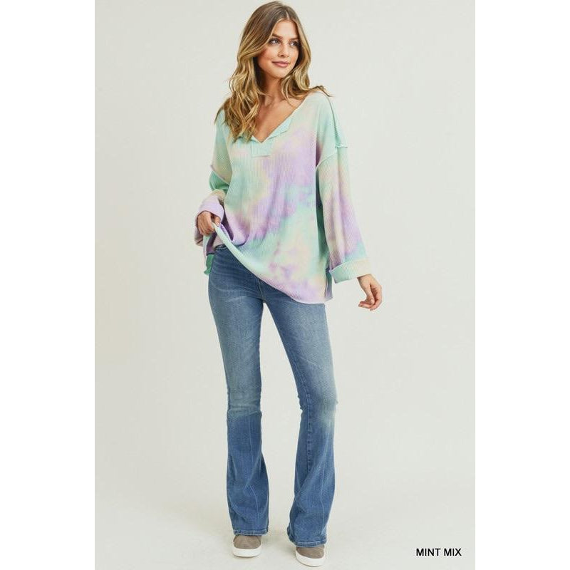 Tie Dye Ribbed Pullover